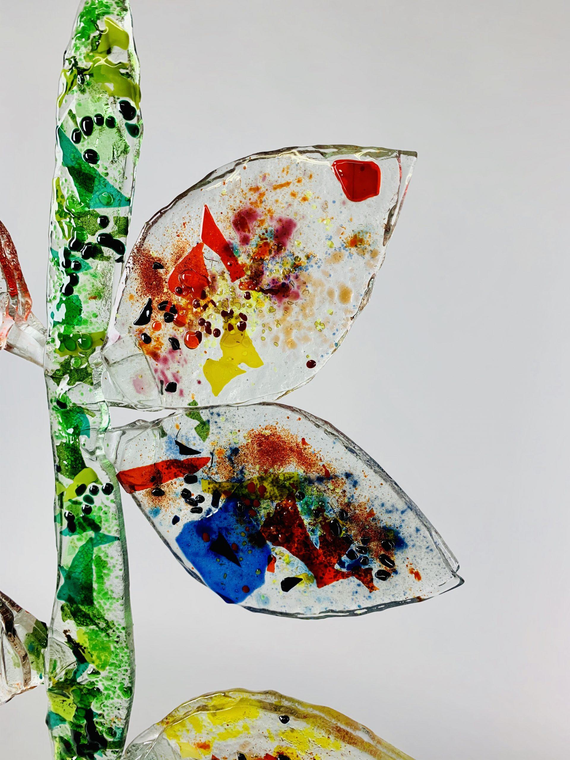 Tree of life 71x38x15 cm glas brons 1 SJAAK SMETSERS