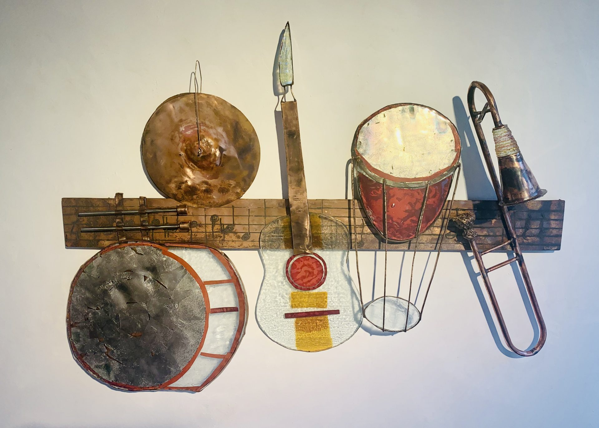 Wandobject muziekinstrumenten klant Funs Uiting SJAAK SMETSERS5