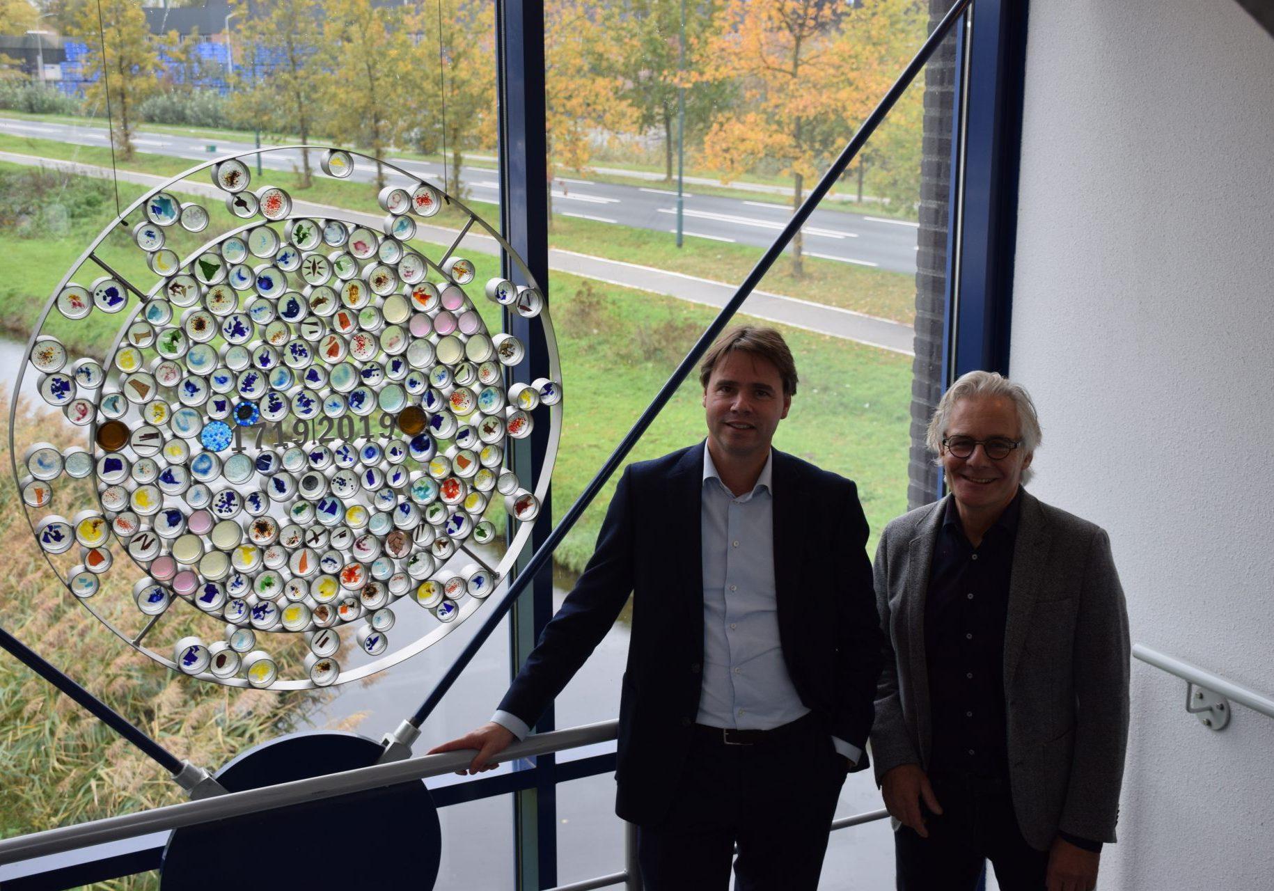 Onthulling kunstwerk Sjaak Smetsers Peer en Sjaak november 2019 Bavaria
