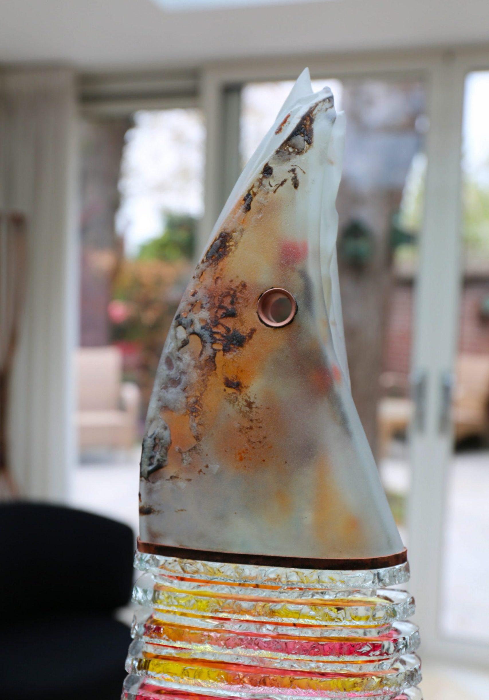 Sunlight controller 59x18x13 cm glas brons SJAAK SMETSERS sfeerfoto2